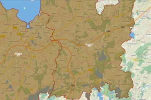 Bodenrichtwertkarte für Ackerlandzonen NWM