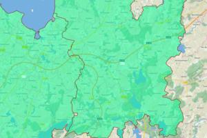 Bodenrichtwertkarte für Forstflächen NWM